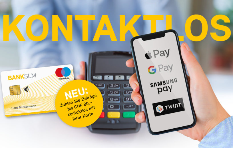 Apple-, Google-, Samsung Pay & Twint
